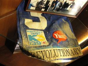 Revolutionary saddle cloth Kentucky Derby 2013